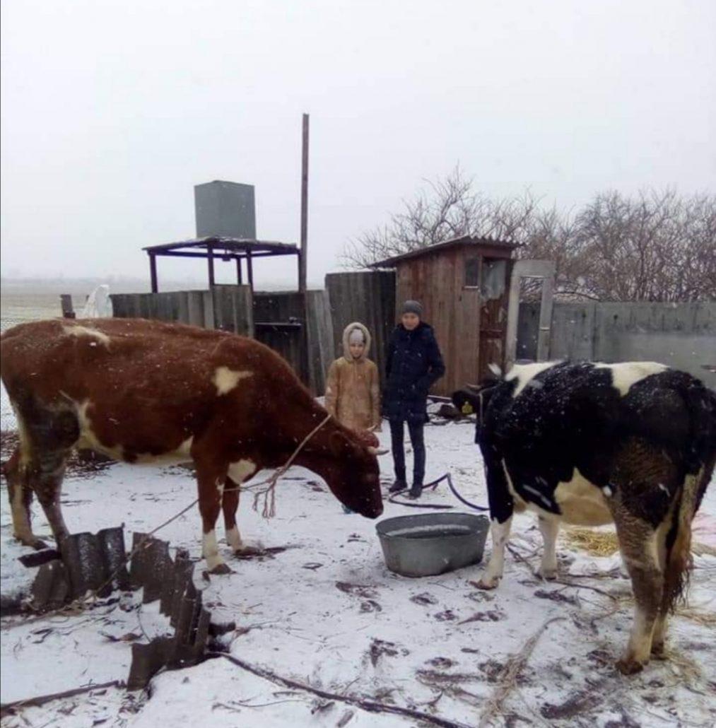 Діти з села Бригадирівка на Харківщині