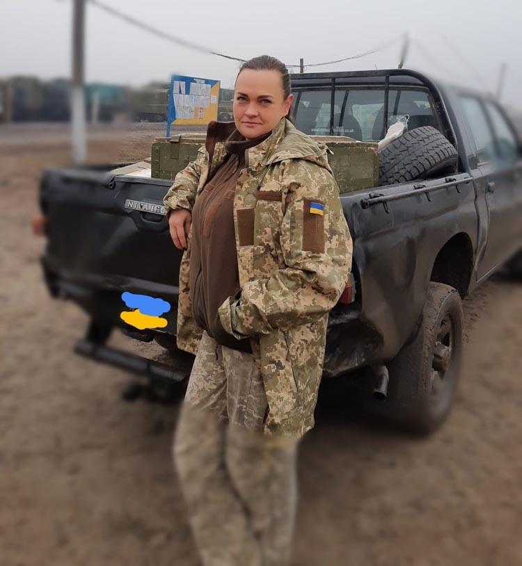 Дар'я Андрусенко-Якотюк на фронті багато часу проводила за кермом