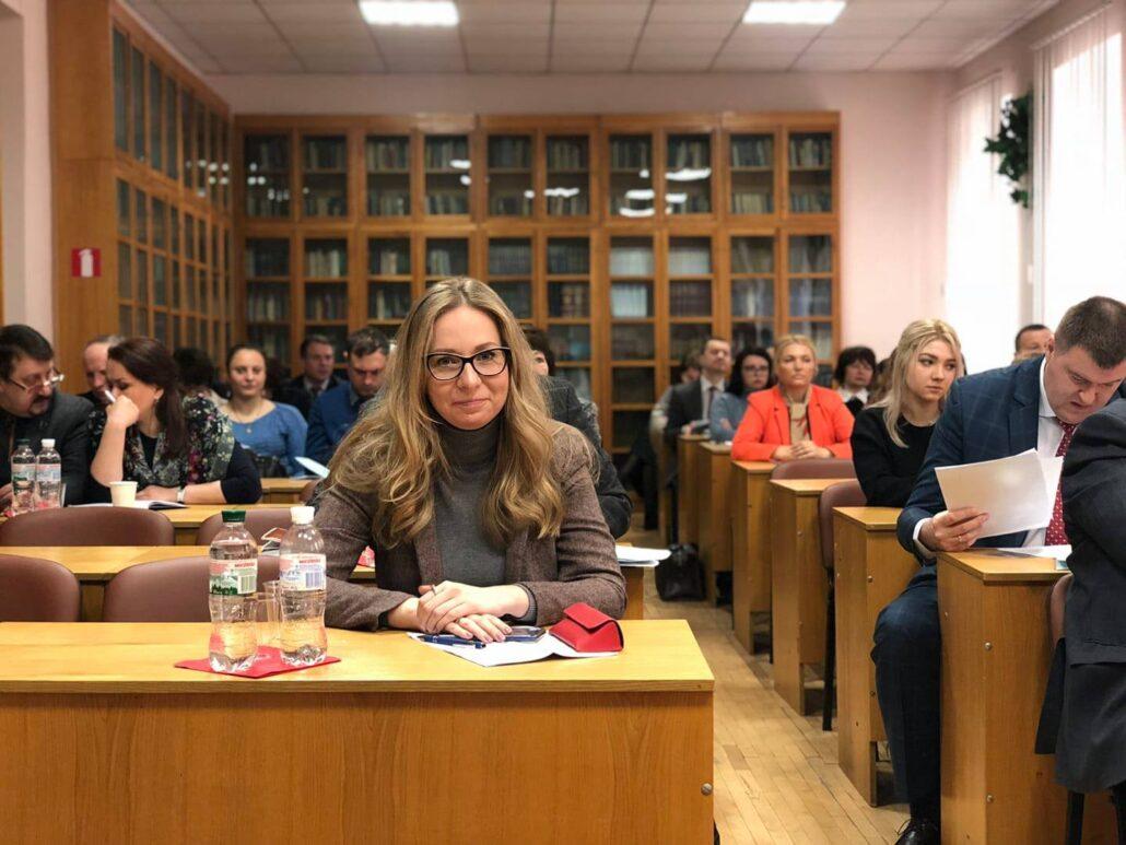 Олександра Голуб на навчанні в аспірантурі, Інститут держави і права імені Корецького