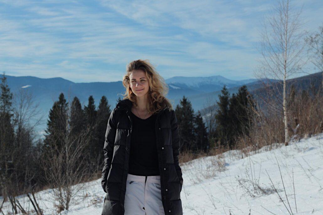 Катерина Мітєва у горах